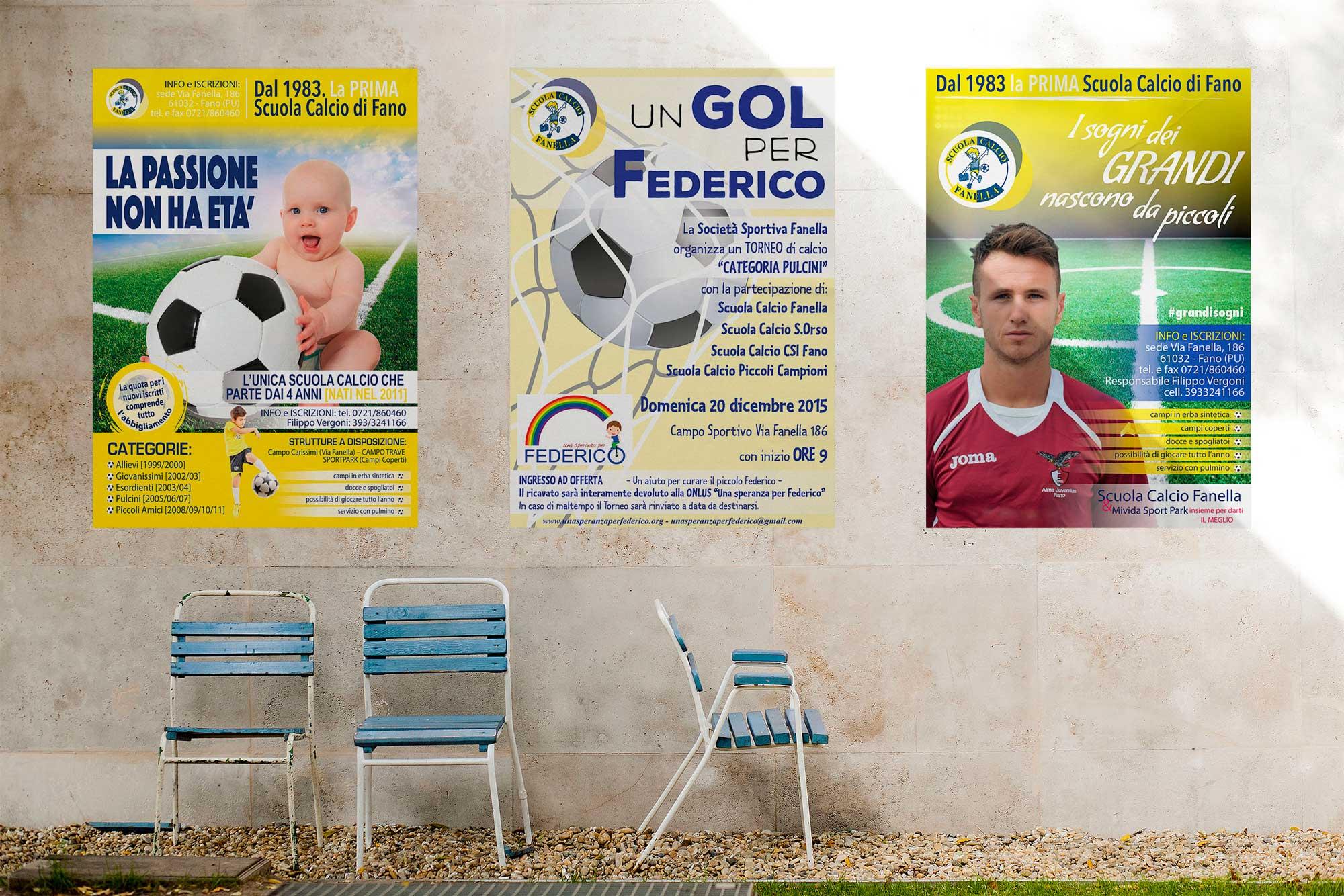 Manifesti Scuola Calcio Fanella